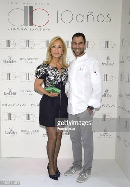 Carmen Lomana and Dario Barrio attend 'dASSA bASSA' restaurant 10th anniversary celebration on May 13 2014 in Madrid Spain