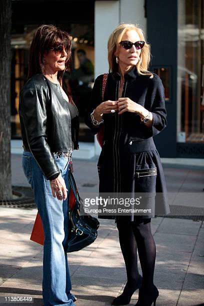 Carmen Lomana and Lita Trujillo are seen sighting on May 6 2011 in Madrid Spain