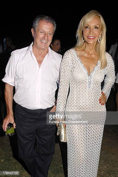 Carmen Lomana and Philippe Junot attend Chopard party on August 9 2013 in Marbella Spain