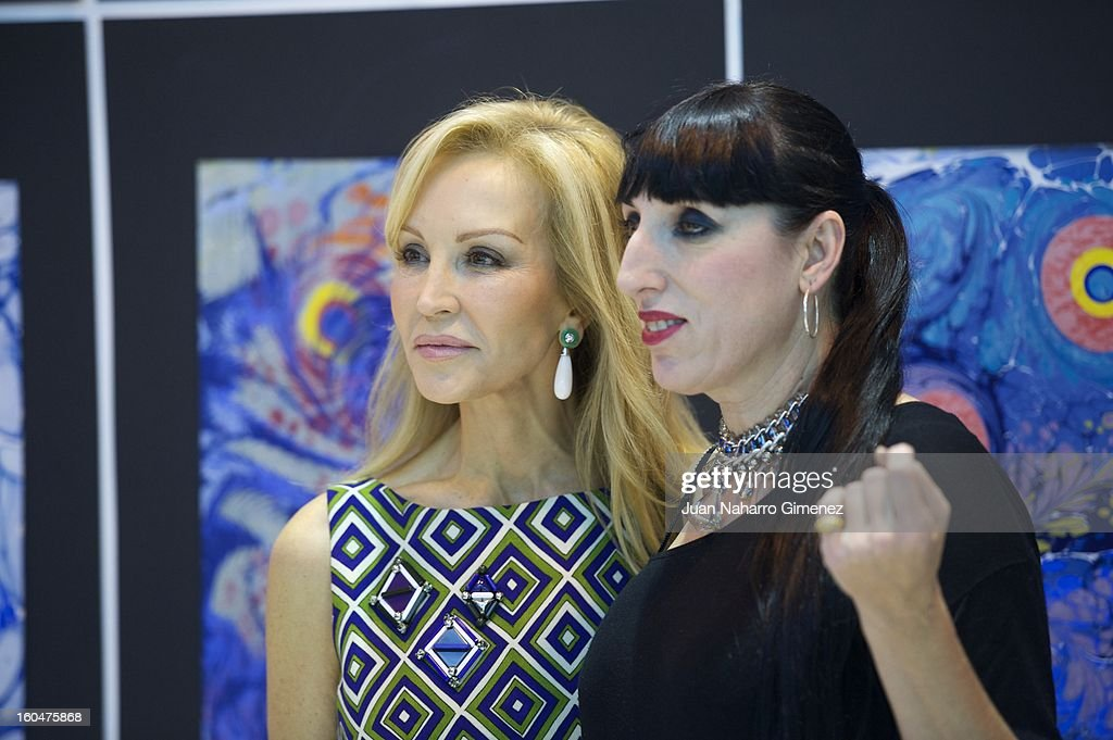 Carmen Lomana and Rossy de Palma visit Turkey stand at FITUR at Ifema on February 1, 2013 in Madrid, Spain.
