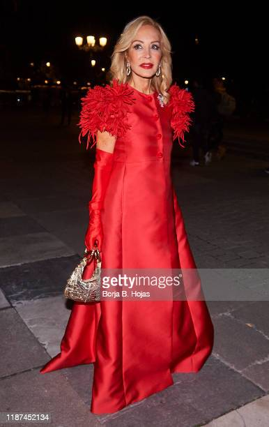 Carmen Lomana arrives to Charity Gala at Royal Theatre on November 13, 2019 in Madrid, Spain.