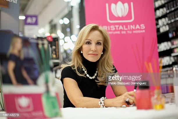 Carmen Lomana attends a 'Cristalina' event at Bricor Store on December 23 2011 in Alcala de Henares Spain