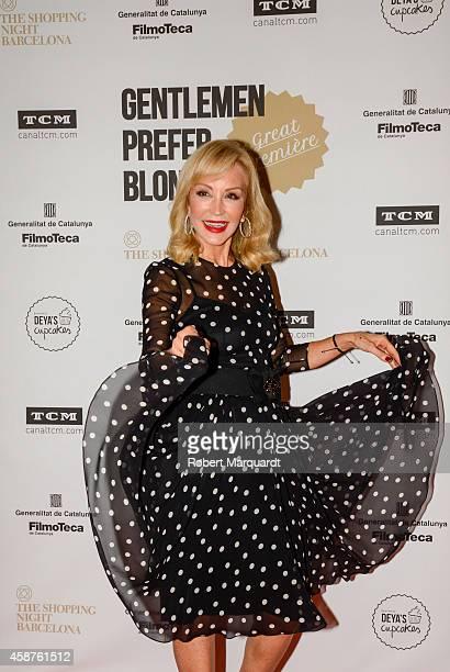 Carmen Lomana attends a photocall for 'The Shopping Night Barcelona' at the Filmoteca de Catalunya Cinema on November 10 2014 in Barcelona Spain