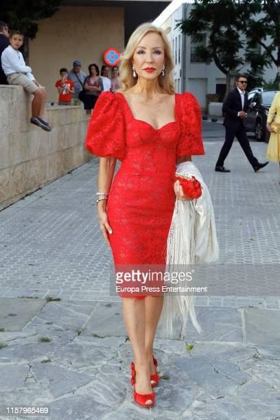 Carmen Lomana attends Ainhoa Arteta's wedding on June 23 2019 at Castillo de San Marcos in Cadiz Spain