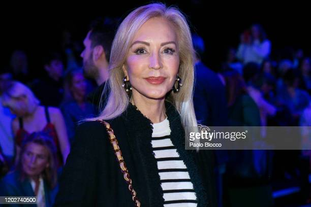 Carmen Lomana attends Andres Sarda fashion show during the Merecedes Benz Fashion Week Autum/Winter 202021 at Ifema on January 29 2020 in Madrid Spain