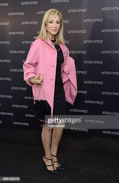 Carmen Lomana attends 'Aristocrazy' after fashion show party at Luzi Bombon on February 14 2014 in Madrid Spain