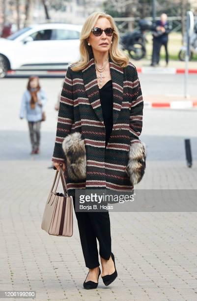 Carmen Lomana attends Cristina de Borbon's funeral chapel on February 14 2020 in Madrid Spain