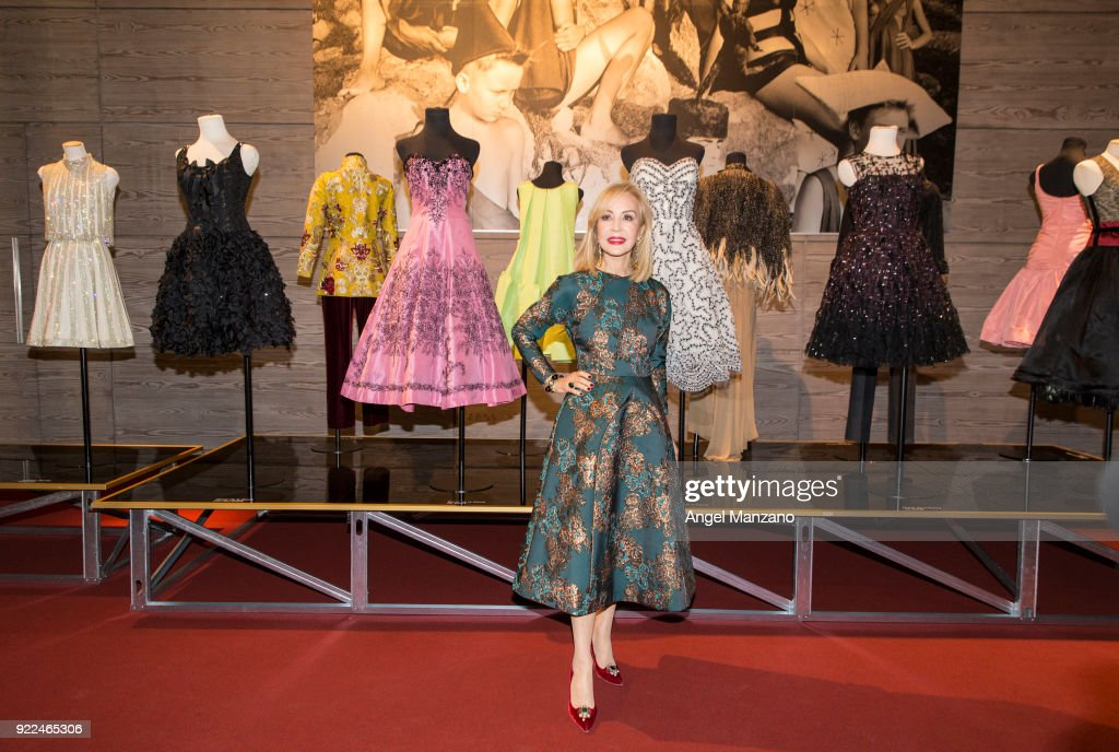 Carmen Lomana attends 'El Armario de Carmen Lomana' Exhibition Presentation Party on February 21, 2018 in Madrid, Spain.