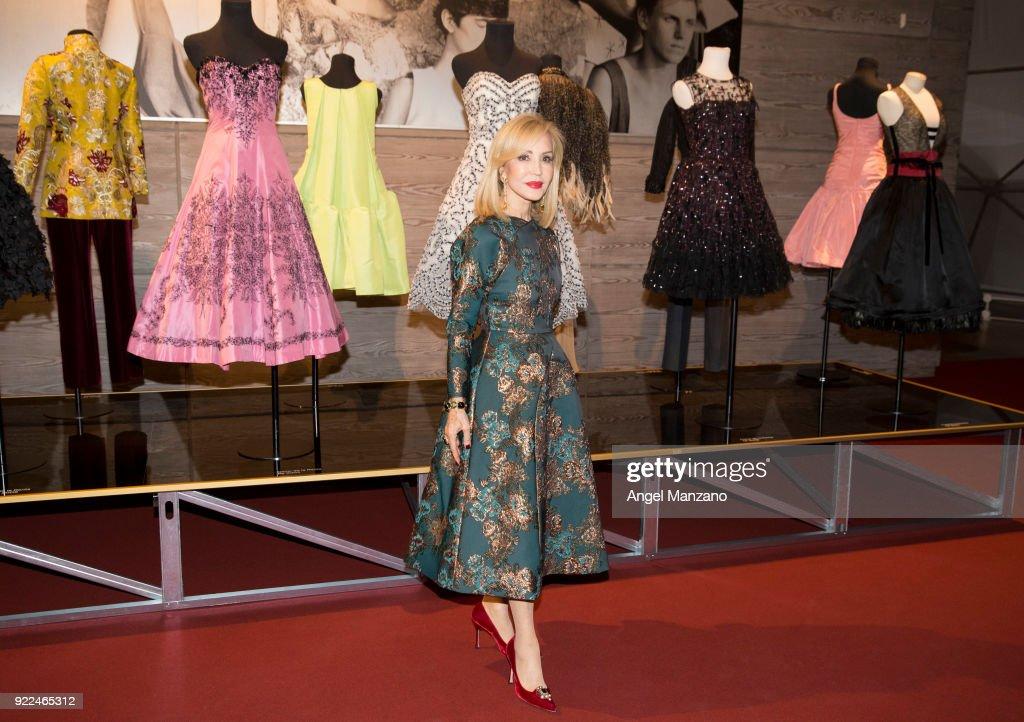 Carmen Lomana attends 'El Armario de Carmen Lomana' Exhibition Presentation Party on February 21, 2018 in Madrid, Spain.
