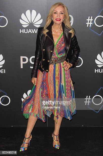 Carmen Lomana attends HUAWEI P9 launch party at Circulo de Bellas Artes on April 19 2016 in Madrid Spain