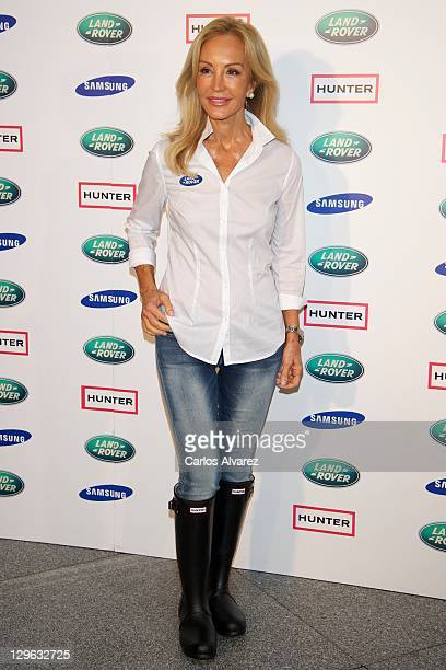 Carmen Lomana attends II Land Rover Discovery Challenge kickoff at Samarkanda Restaurant on October 19 2011 in Madrid Spain