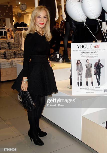 Carmen Lomana attends Isabel Marant new collection party photocall at HM store on November 13 2013 in Madrid Spain
