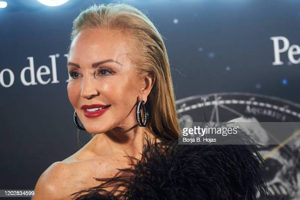 Carmen Lomana attends Pedro del Hierro fashion show during the Merecedes Benz Fashion Week Autum/Winter 202021 on January 29 2020 in Madrid Spain