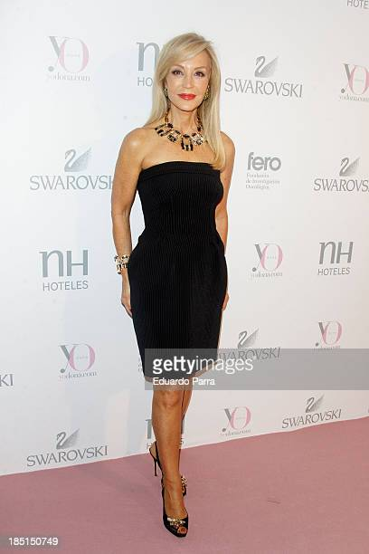 Carmen Lomana attends 'Pink hope' party photocall a Madrid Casino on October 17 2013 in Madrid Spain