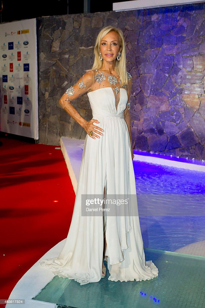 Carmen Lomana attends Starlite Gala on August 9, 2015 in Marbella, Spain.
