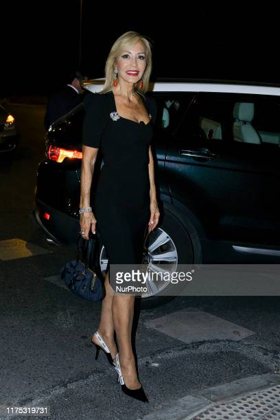 Carmen Lomana attends the 25th anniversary party of Tacha Beauty in Palace Santa Coloma in Madrid on October 10 2019 in Madrid Spain