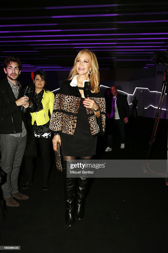 Carmen Lomana attends the Custo Barcelona fashion show as part of the 080 Barcelona Fashion Week Autumn/Winter 2013-2014 on January 30, 2013 in Barcelona, Spain.