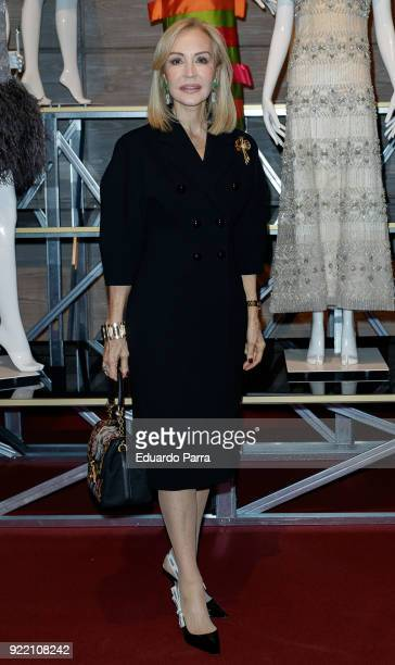 Carmen Lomana attends the 'El Armario de Carmen Lomana' exhibition at Dress Museum on February 21 2018 in Madrid Spain