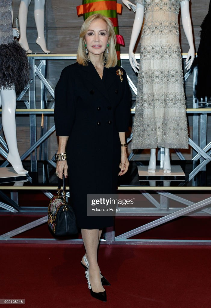 Carmen Lomana attends the 'El Armario de Carmen Lomana' exhibition at Dress Museum on February 21, 2018 in Madrid, Spain.