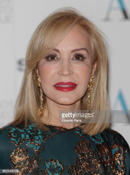 Carmen Lomana attends the 'El armario de Carmen Lomana' exhibition photocall at Costume museum on February 21 2018 in Madrid Spain