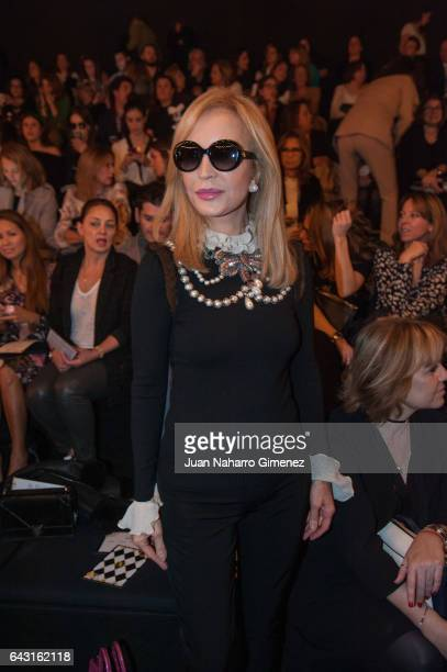 Carmen Lomana attends the front row of Jorge Vazquez show during Mercedes Benz Fashion Week Madrid Autumn / Winter 2017 at Ifema on February 20 2017...