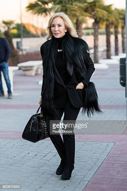 Carmen Lomana attends the funeral chapel for Bimba Bose on January 24 2017 in Madrid Spain Bimba Bose died in Madrid at the age of 41 after losing...