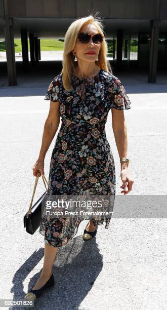 Carmen Lomana attends the funeral chapel for the fashion designer David Delfin at Dress Museum on June 4 2017 in Madrid Spain