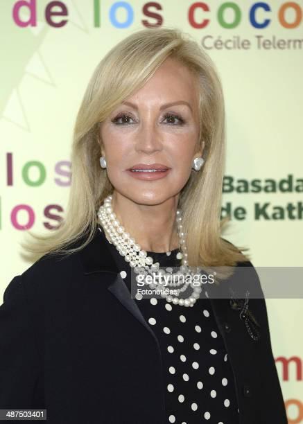 Carmen Lomana attends the 'Los Ojos Amarillos de los Cocodrilos' premiere the Academia del Cine on April 30 2014 in Madrid Spain