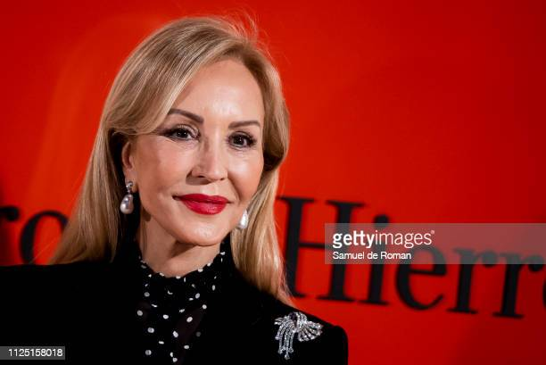 Carmen Lomana attends the Pedro Del Hierro fashion show during the Mercedes Benz Fashion Week Autumn/Winter 20192020 on January 26 2019 in Madrid...