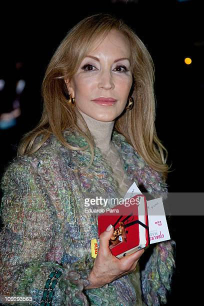 Carmen Lomana attends the Victorio Lucchino fashion show during the Cibeles Madrid Fashion Week A/W 2011 at Ifema on February 19 2011 in Madrid Spain