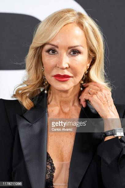 Carmen Lomana attends the Yves Saint Laurent fragrance 'Libre' presentation at Real Fabrica de Tapices on September 30 2019 in Madrid Spain