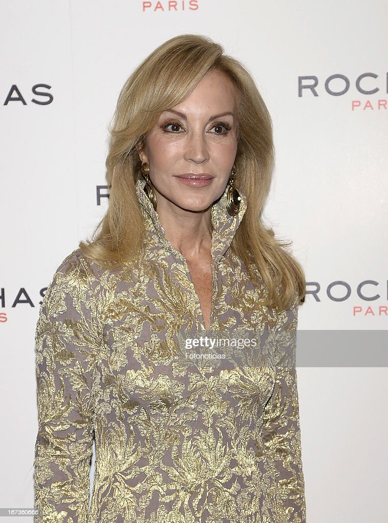 Carmen Lomana attends 'Tribut to Freshness and Rochas Women' event at the French embassy on April 24, 2013 in Madrid, Spain.