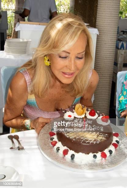 Carmen Lomana celebrates her 70th birthday on August 1 2018 in Marbella Spain