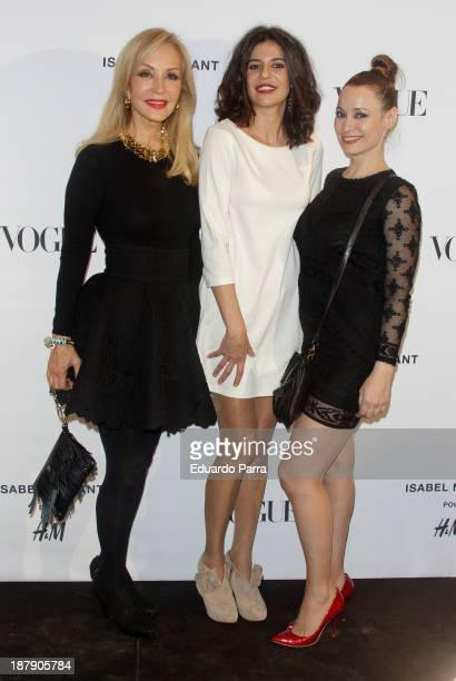 Carmen Lomana Cristina Pena and Natalia Verbeke attend Isabel Marant new collection party photocall at HM store on November 13 2013 in Madrid Spain