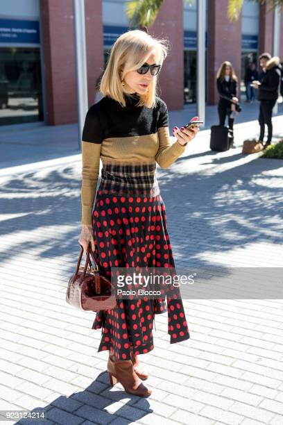 Carmen Lomana is seen at ARCO on February 22 2018 in Madrid Spain