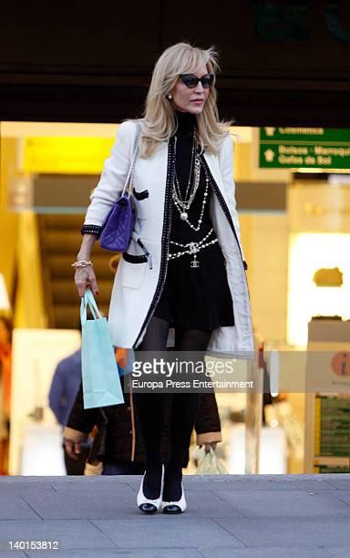 Carmen Lomana is seen going for shopping at Golden Mile on February 28 2012 in Madrid Spain