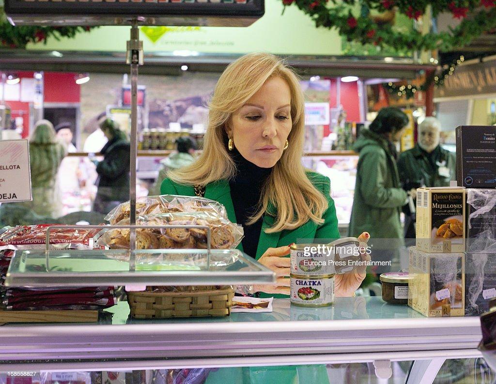 Carmen Lomana is seen on December 18, 2012 in Madrid, Spain.
