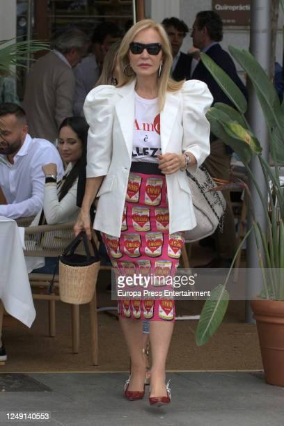 Carmen Lomana is seen on June 11 2020 in Madrid Spain