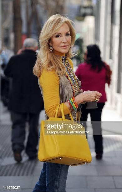 Carmen Lomana is seen on March 24 2012 in Madrid Spain