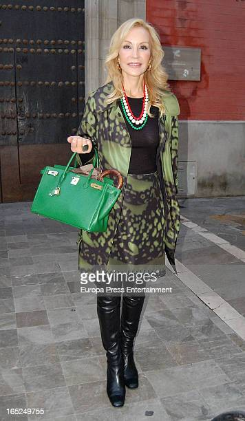 Carmen Lomana is seen on March 26 2013 in Seville Spain
