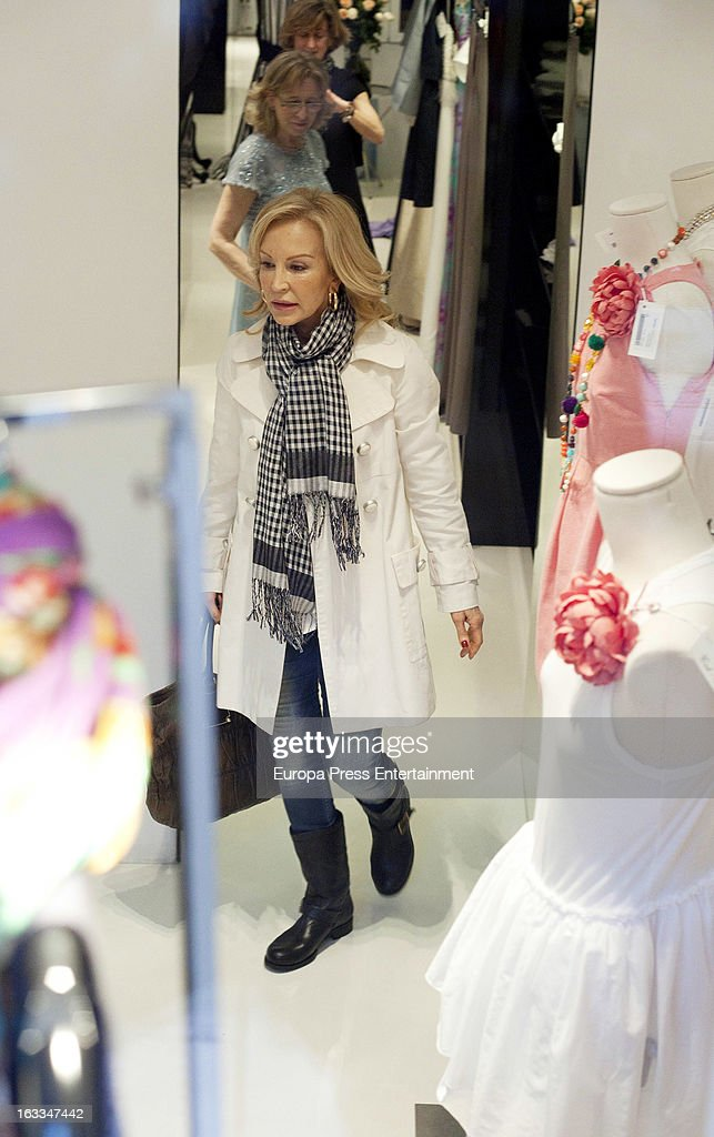 Carmen Lomana is seen on March 7, 2013 in Madrid, Spain.