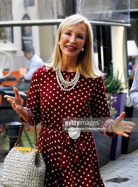 Carmen Lomana is seen on October 21 2014 in Madrid Spain