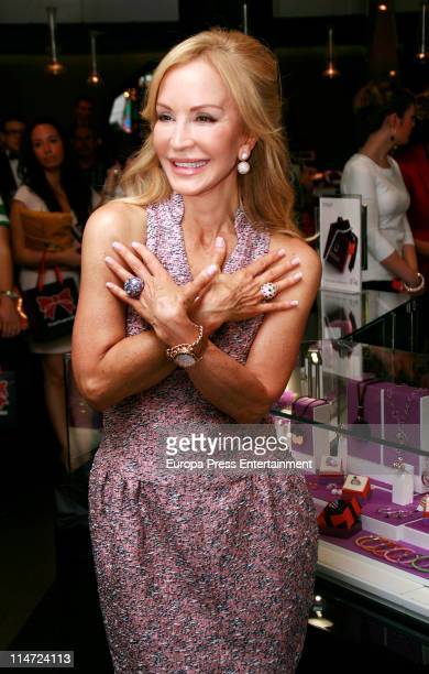 Carmen Lomana presents new 'Dijous' jewelry collection at El Corte Ingles on May 25 2011 in Madrid Spain