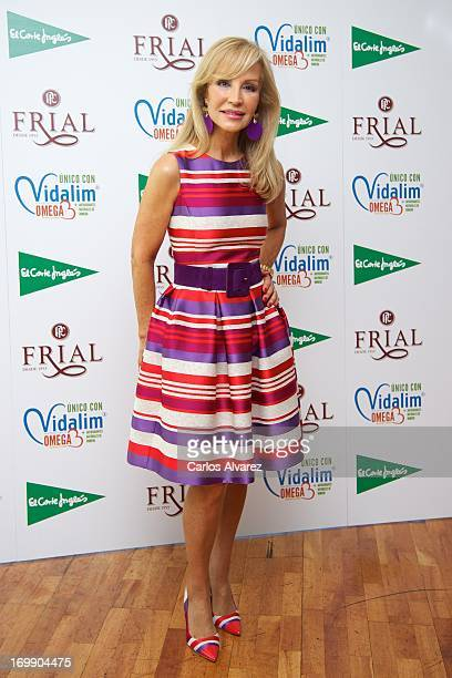 Carmen Lomana presents the new range of Frial products at the Corte Ingles Castellana store on June 4 2013 in Madrid Spain