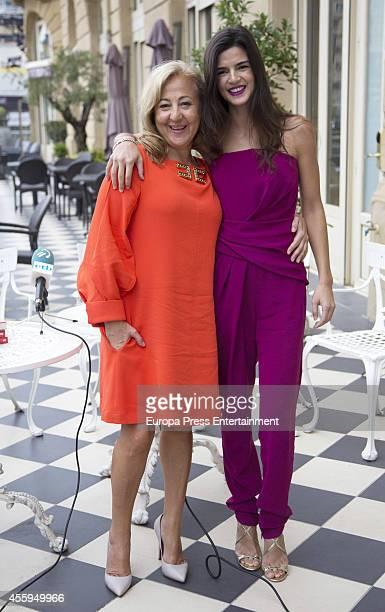 Carmen Machi and Clara Lago attends the presentation of 'Ocho Apellidos Vascos' book during the 62nd San Sebastian Film Festival on September 22 2014...