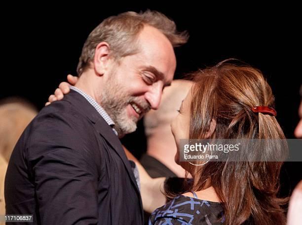 Carmen Machi and Gonzalo de Castro attend Centro Dramatico Nacional new season press conference at Maria Guerrero theatre on June 22 2011 in Madrid...