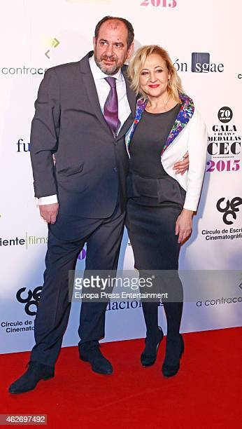 Carmen Machi and Karra Elejalde attend the Cinematographic Writers Circle 2015 awards on February 2 2015 in Madrid Spain