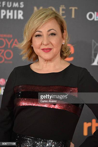 Carmen Machi attends Goya Cinema Awards 2016 at Madrid Marriott Auditorium on February 6 2016 in Madrid Spain