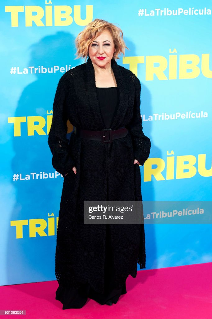 Carmen Machi attends 'La Tribu' premiere at the Capitol cinema on March 12, 2018 in Madrid, Spain.