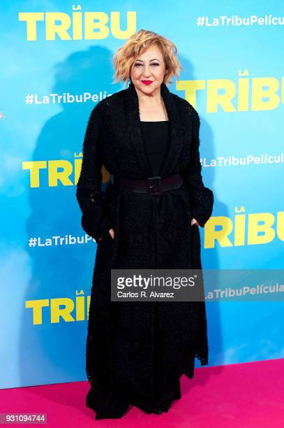 Carmen Machi attends 'La Tribu' premiere at the Capitol cinema on March 12 2018 in Madrid Spain